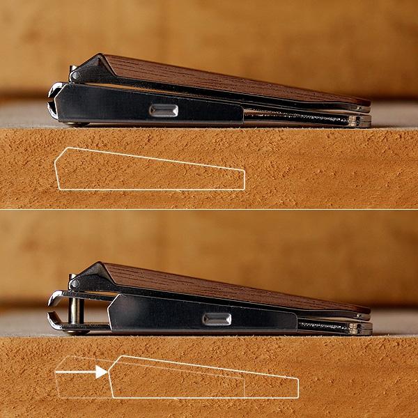 切った爪が飛び散らないスライドカバーつき、爪をまとめて捨てやすい便利な爪切りです。