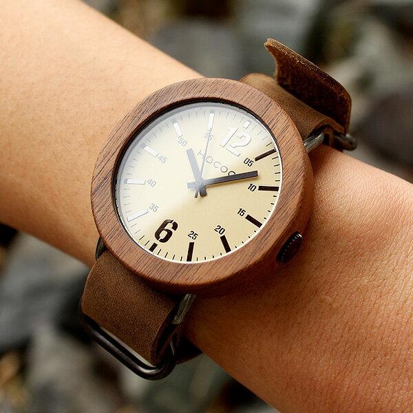 無垢の天然木をおしゃれに組み込んだ木製腕時計「Wooden Watch NATO STYLE」メンズ/レディース