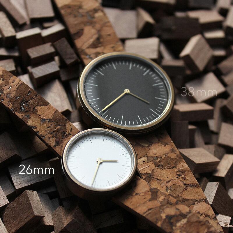 シンプルデザインに個性が光るおしゃれなコルクレザー腕時計「CONNIE Simple Watch 26mm」レディース