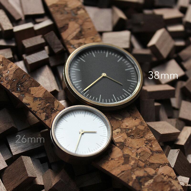 シンプルデザインに個性が光るおしゃれなコルクレザー腕時計「CONNIE Simple Watch 38mm」メンズ/レディース