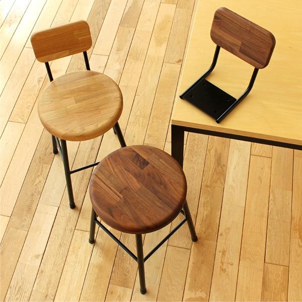 オプションの背もたれを取り付けて木製チェアとしてお使いいただけます