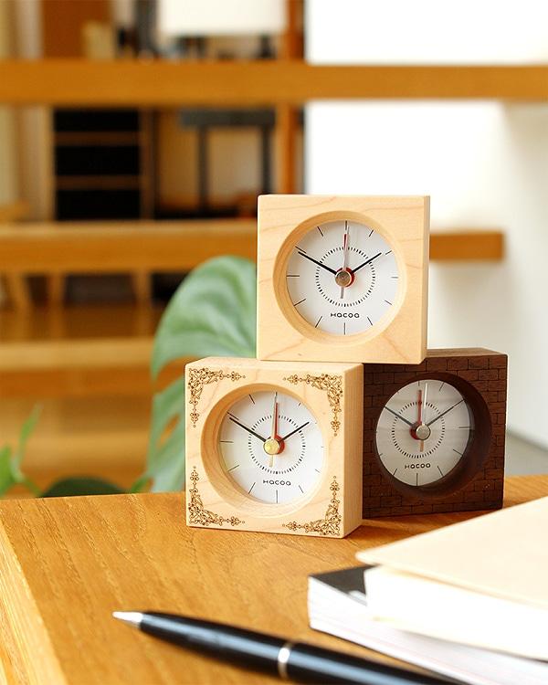 コンパクトな木製アラーム時計・目覚まし時計「BlockClock(アラーム付き)」