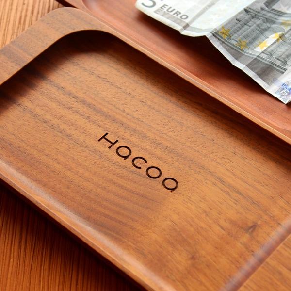 【レーザー刻印代込】ショップロゴをレーザー刻印できる木製キャッシュトレイ・コイントレイ