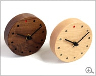 Wall Clock Mini 木の置時計