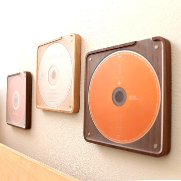 壁掛け可能な木製CD・DVDケース・スタンド
