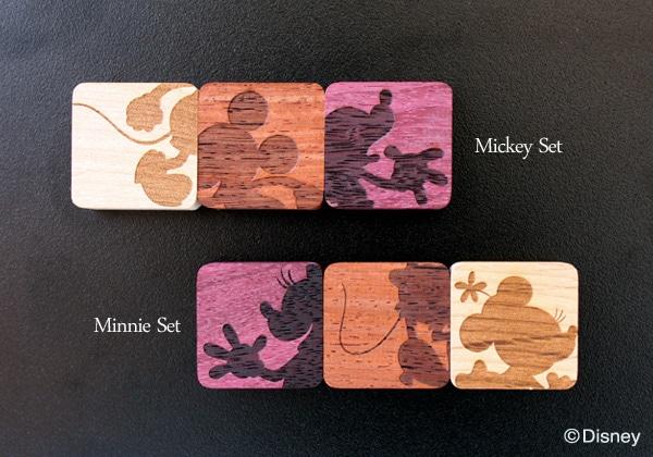 ディズニーキャラクターの木製マグネット(3個1セット)