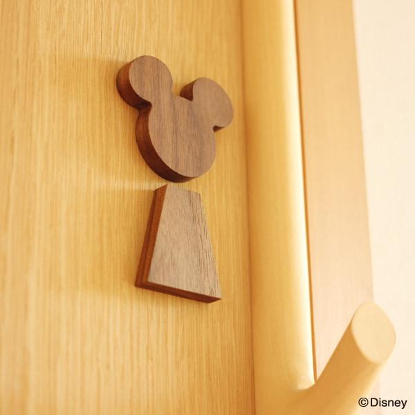 ミッキーの形をモチーフにしたサインは男の子のお部屋などに。