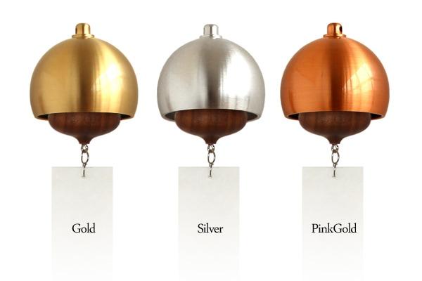 真鍮とウォールナットの無垢材を組み合わせた風鈴