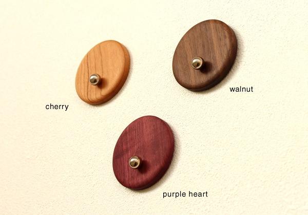 銘木のウォールナット、チェリー、パープルハートなどの木材を使用
