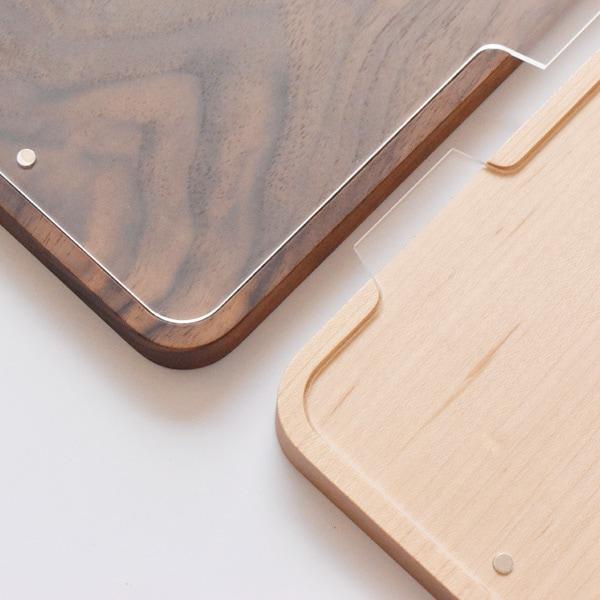 無垢材のメープル・ウォールナットを使用した本物の木のフォトスタンド・フレーム
