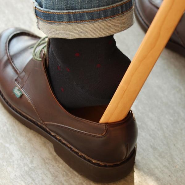 ロングタイプの木製靴べら