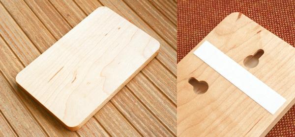 木の看板に無地タイプも追加