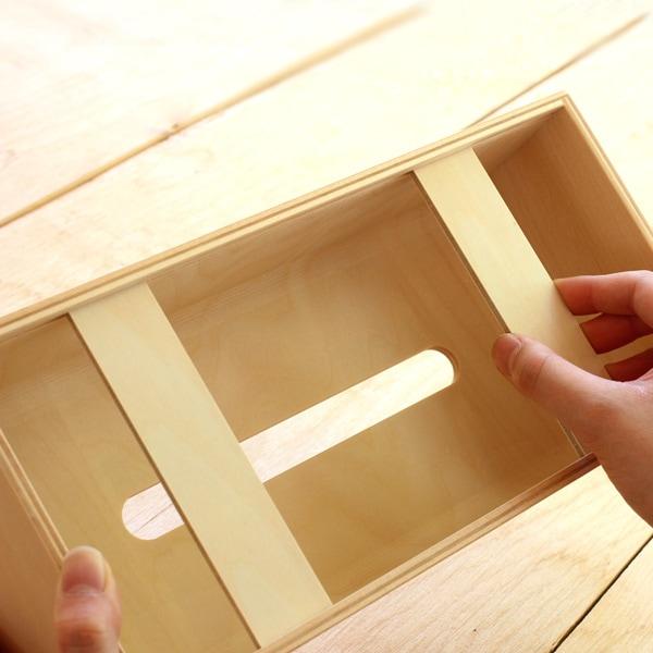 北欧風の木製ティッシュケース