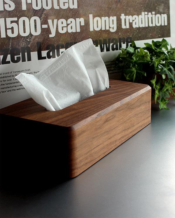 新商品 生活感を自然と隠すラグジュアリーな木製ティッシュケース