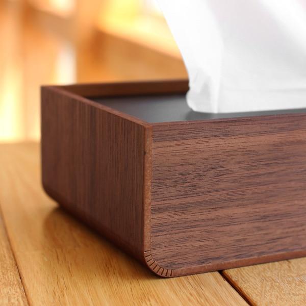 置き蓋式の木製ティッシュボックス