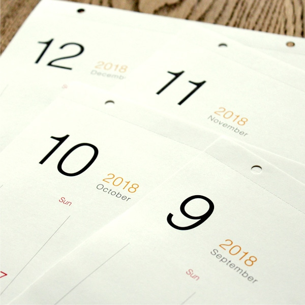 今だけ2018年版のカレンダーも付属