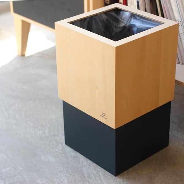 ビニール袋を隠すおしゃれな木製ダストボックス