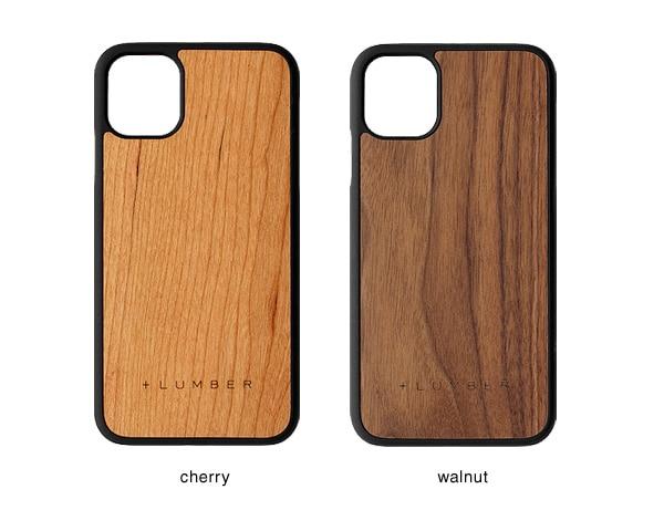 iPhone 11用ケースはチェリー・ウォールナットの天然木からお選び頂けます