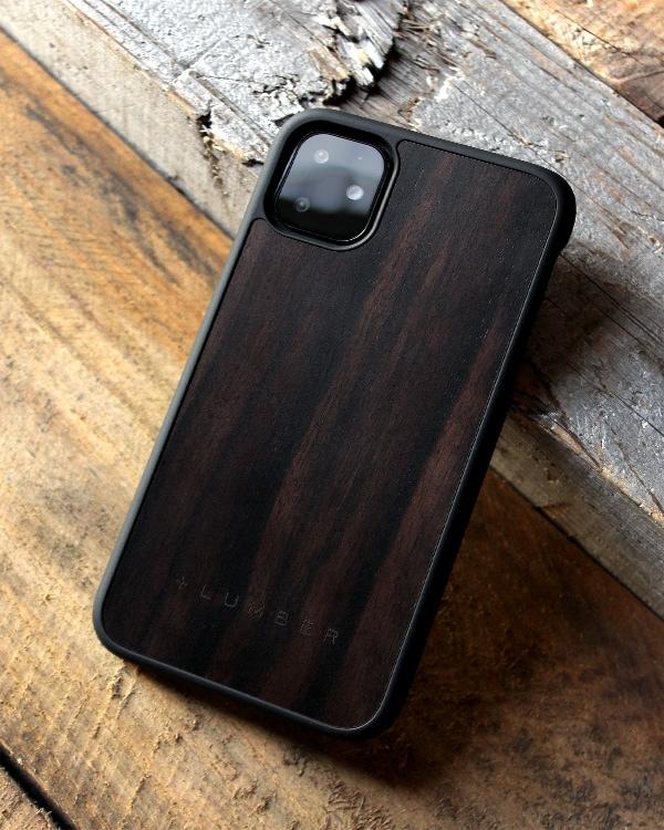 丈夫なハードケースと天然木を融合したiPhone 11専用木製ケース