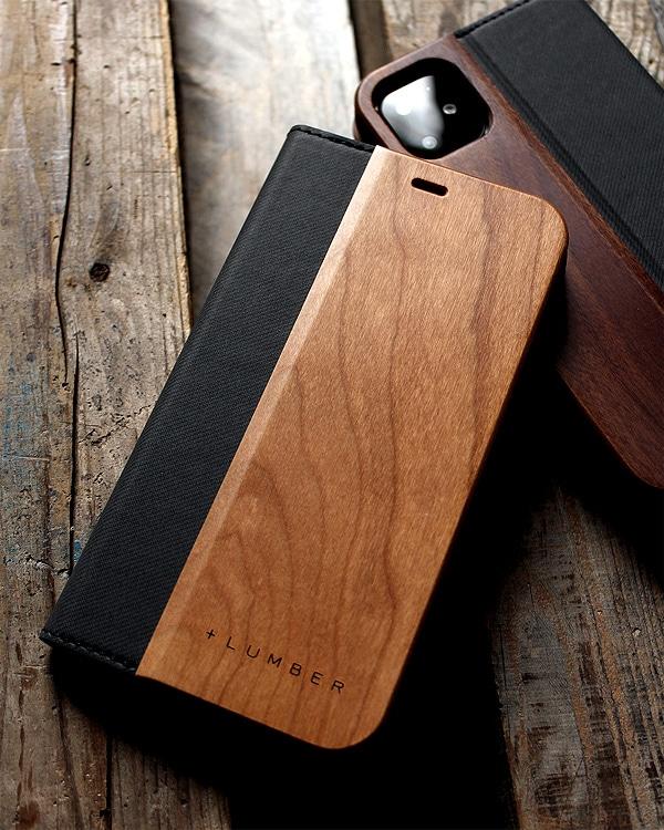 手帳型の木製スマートフォンケース iPhone 11専用