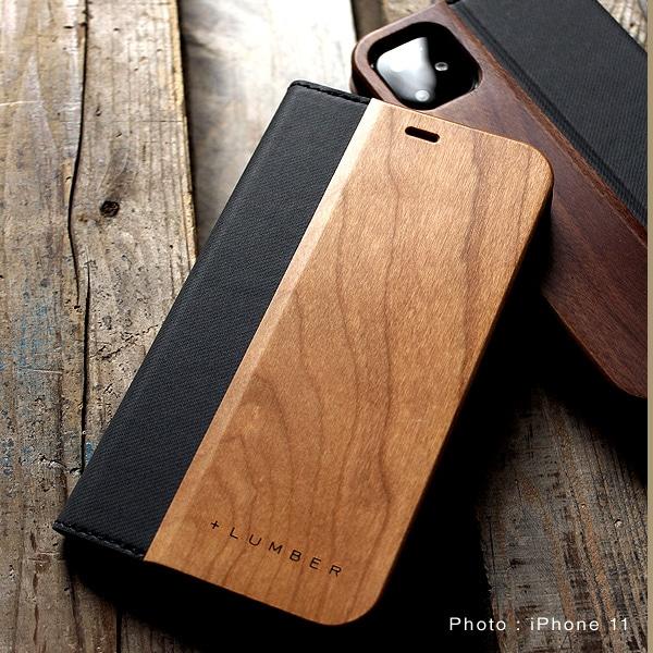 手帳型の木製アイフォンケース、iPhone11専用フリップケース・カバー