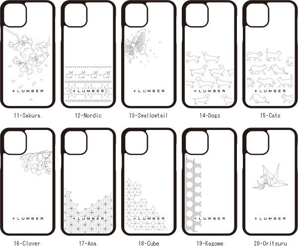 木製iPhone 11ケースにイラスト刻印ができます