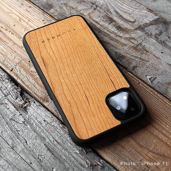 iPhone 11専用ハードケース(チェリー・ウォールナット)」