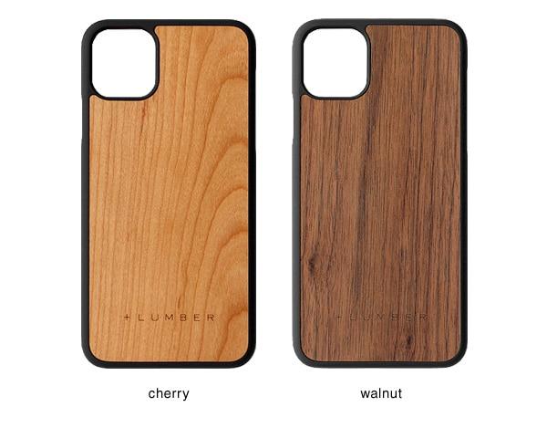 iPhone 11 ProMax用ケースはチェリー・ウォールナットの天然木からお選び頂けます