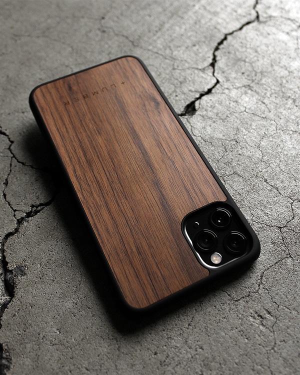 丈夫なハードケースと天然木を融合したiPhone 11 ProMax専用木製ケース