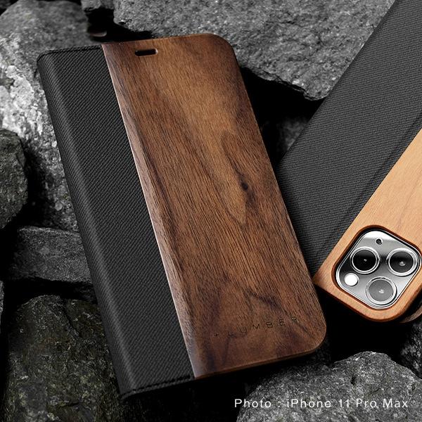 手帳型の木製アイフォンケース、iPhone11 Pro専用フリップケース・カバー
