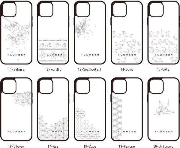 木製iPhone 12プロケースにイラスト刻印ができます