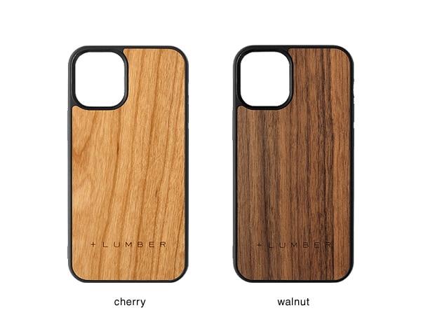 iPhone 12mini用ケースはチェリー・ウォールナットの天然木からお選び頂けます