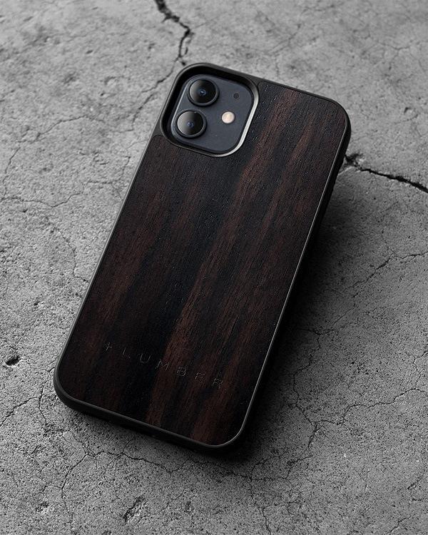 ハードケースと天然木を融合したiPhone 12mini専用ケース(黒檀)