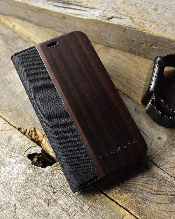 手帳型の木製スマートフォンケース iPhone 12ミニ専用