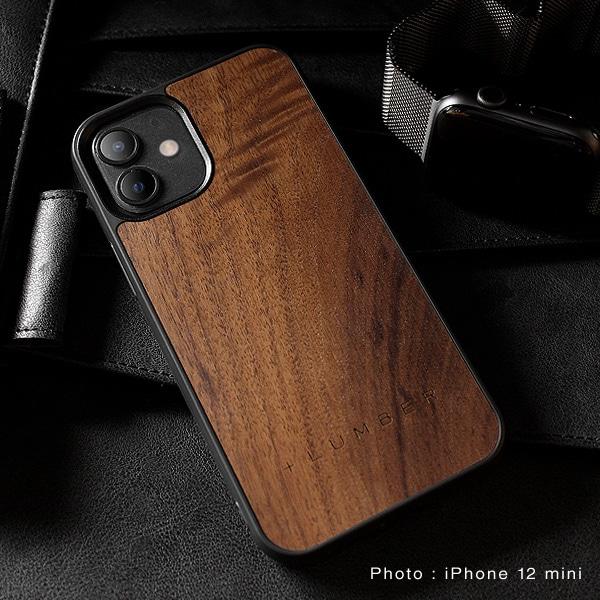 iPhone 12ミニ専用木製ハードケース(チェリー・ウォールナット)