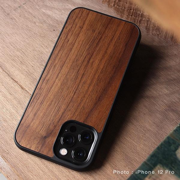 iPhone 12/12Pro専用木製ハードケース(チェリー・ウォールナット)