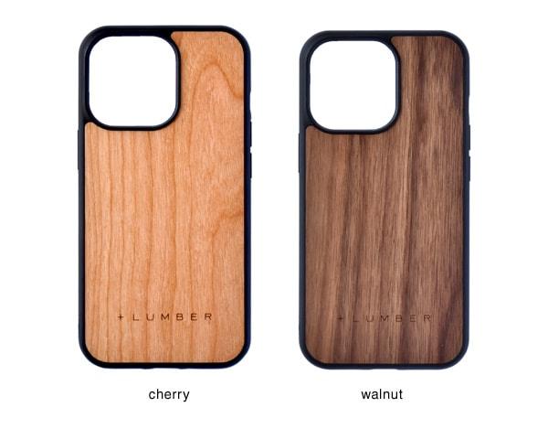 iPhone 13Pro用ケースはチェリー・ウォールナットの天然木からお選び頂けます