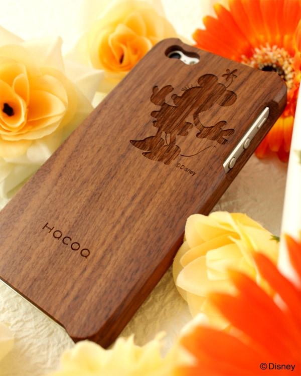ディズニーキャラクターの無垢のiPhone5s用木製アイフォンケース
