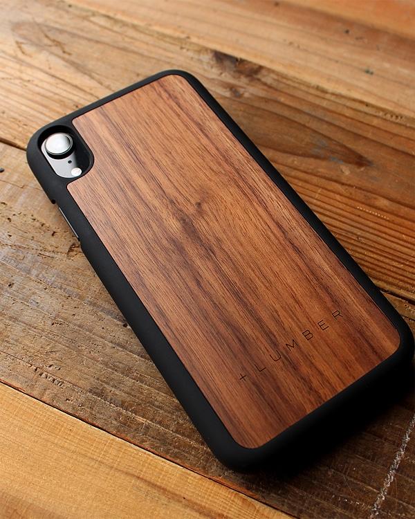 丈夫なハードケースと天然木を融合したiPhoneXR木製ケース