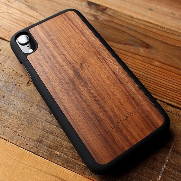 天然木を融合したiPhone XR専用ハードケース