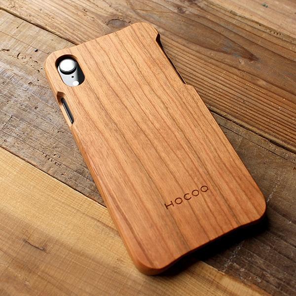 Hacoaブランド、無垢材削り出しの手触り良い木製iPhoneXR専用ケースもご用意