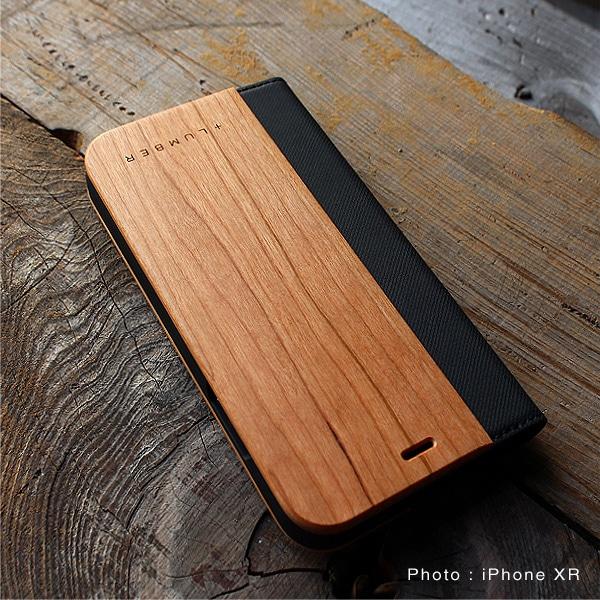 手帳型の木製アイフォンケース iPhone XR専用フリップケースはこちら