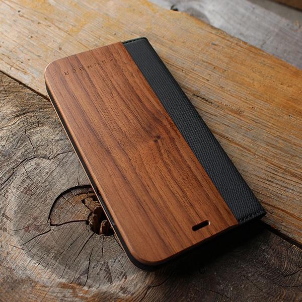 手帳型の木製アイフォンケース、iPhone XR専用フリップケース