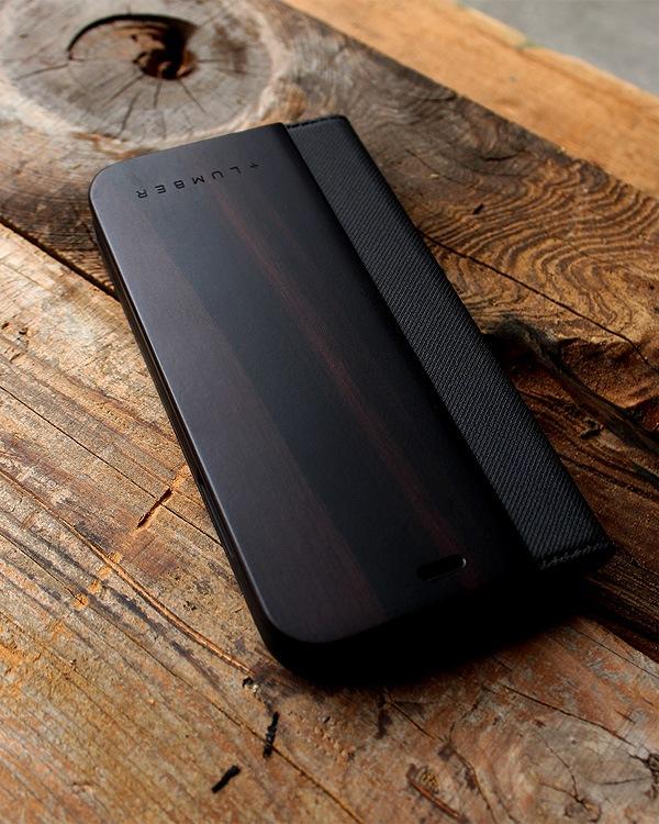 手帳型の木製スマートフォンケース iPhoneXR専用