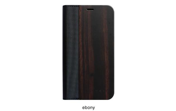 黒檀の天然木板材をアクセントとしてプラス