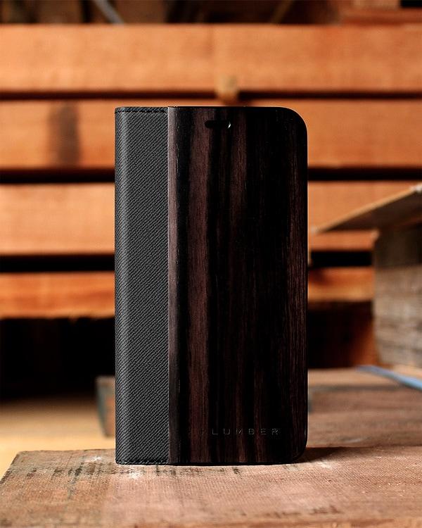 手帳型の木製スマートフォンケース iPhoneXS Max専用