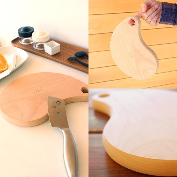 豆の形をしたおしゃれな木製カッティングボード