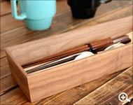 木製無垢のカトラリーボックス・ケース
