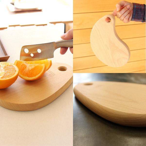 しずくの形をしたおしゃれな木製カッティングボード