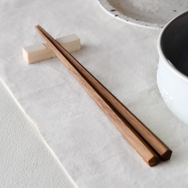 名入れもできる銘木の「五角箸 単品」